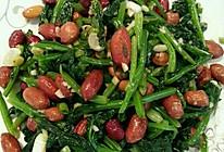 菠菜拌花生米的做法