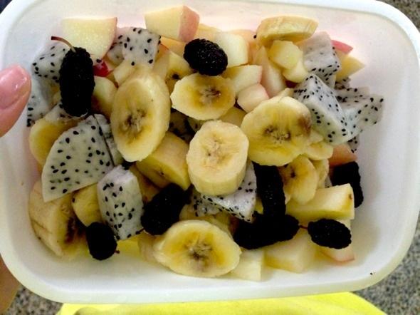 给妹妹做的水果便当!