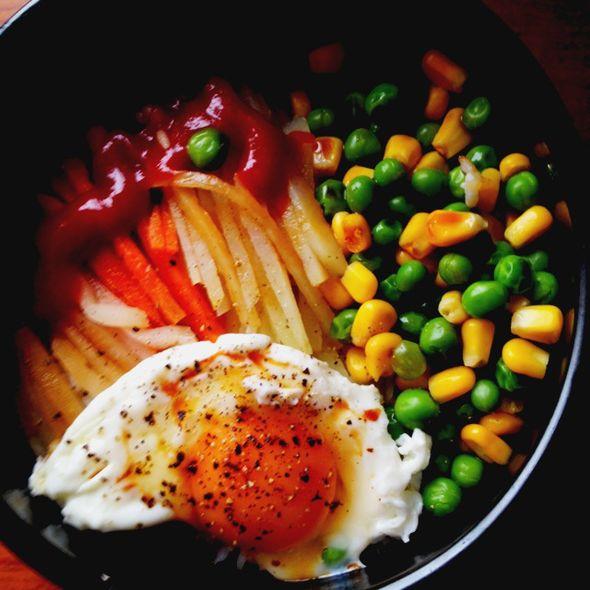 自制石锅拌饭