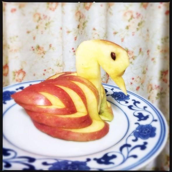 苹果肥鹅,鹅鹅鹅_歪头吸管的美食日记