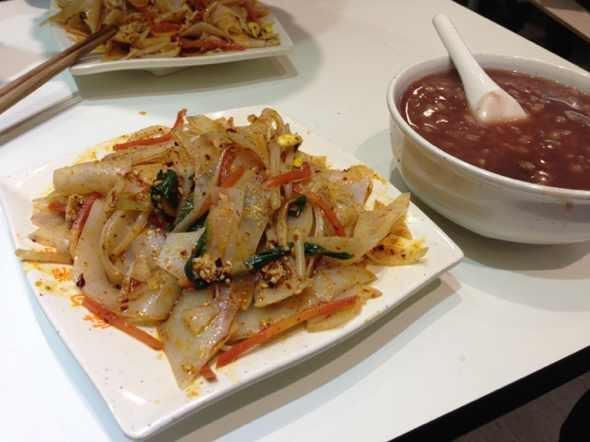 烙面皮红豆薏米粥
