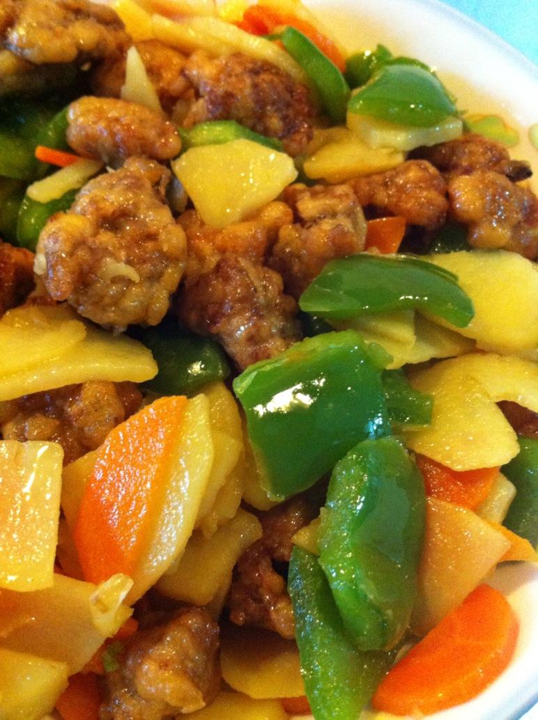 青椒土豆片早餐