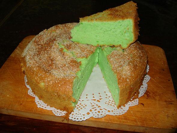 全麦面斑斓叶椰浆蛋糕图片
