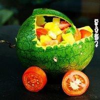果蔬沙拉靓车