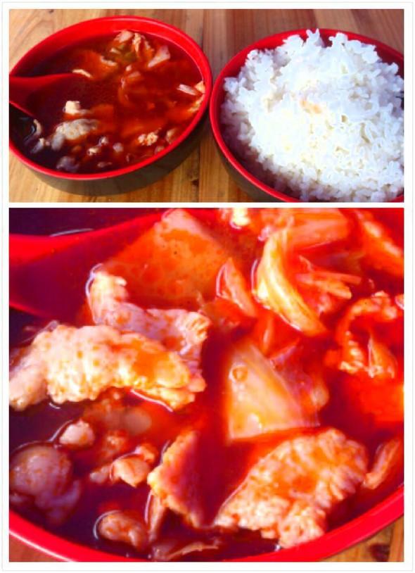 水煮肉片捞饭