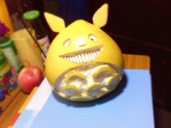 标签:水果我家做的下午茶柚子龙猫