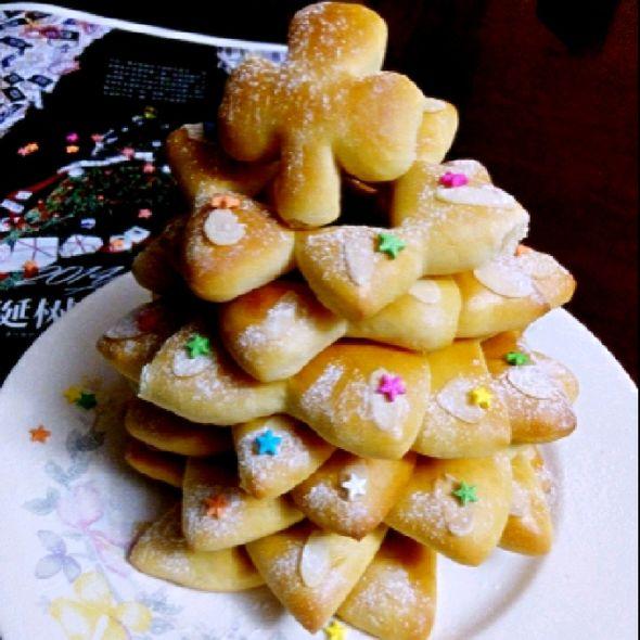 圣诞树面包_琳妈芮熙的美食日记