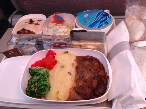 羊肉的飞机餐
