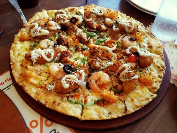 芝士海鲜披萨   素材公社 tooopen.com