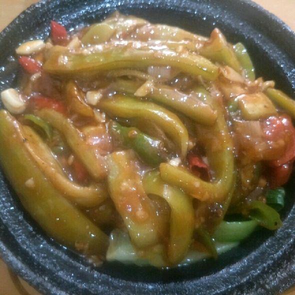 红烧茄子锅巴饭