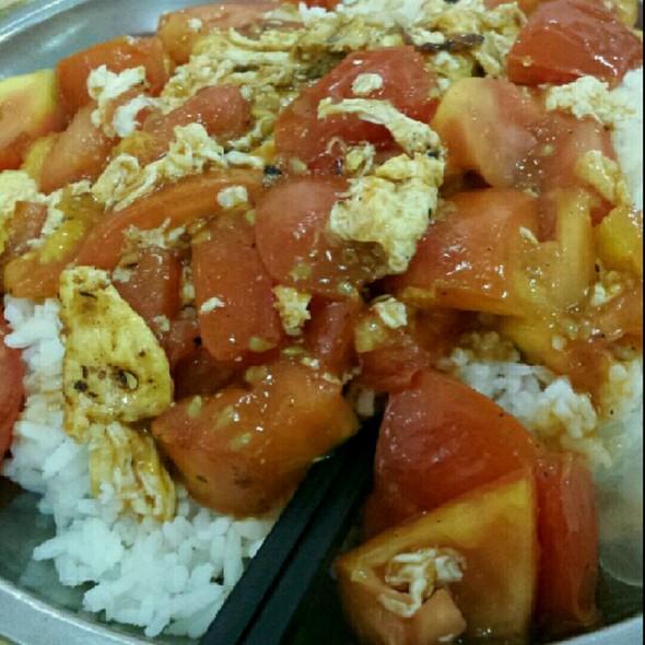 番茄鸡蛋木桶饭
