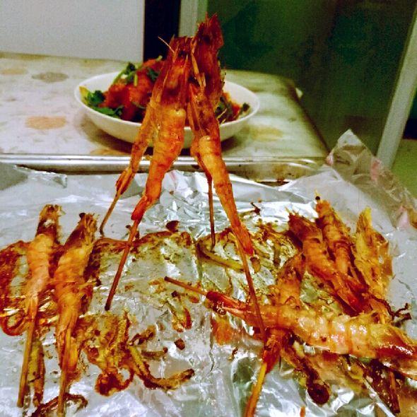 卢氏焗盐烤虾