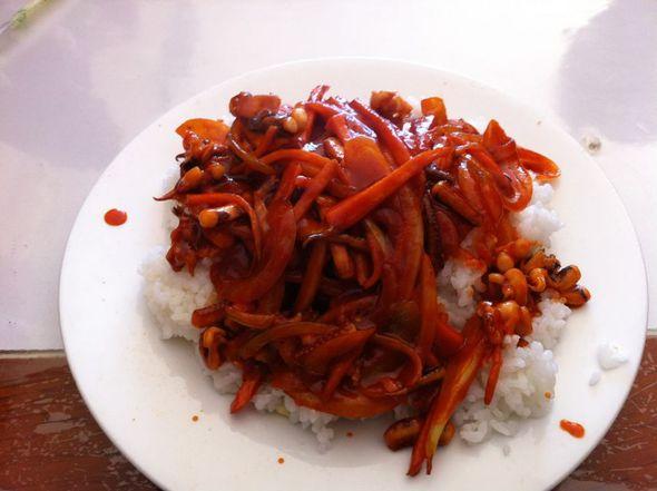 朝鲜鱿鱼盖饭