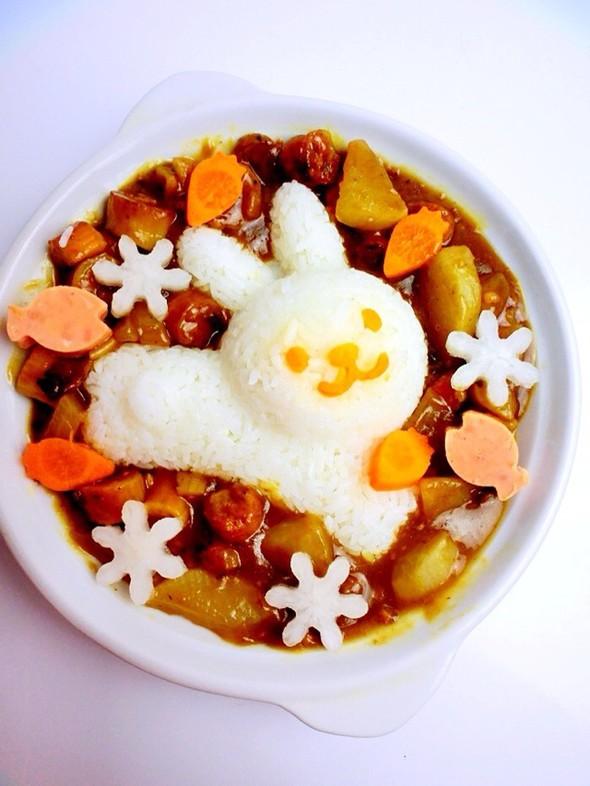 【白玉萝卜兔子咖喱饭】_林大头er的美食日记_豆果网