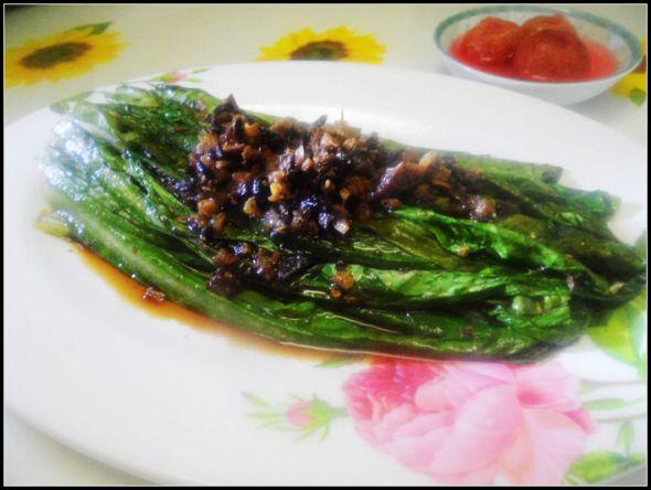 豆豉鲮鱼油麦菜_花好月圆128的美食日记_豆果美食