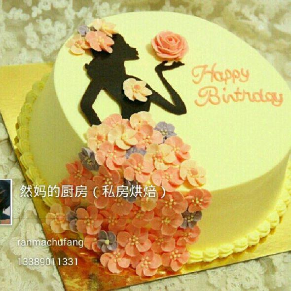 美女剪影蛋糕