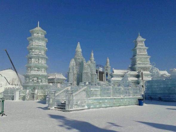 冰雕创意设计手绘图