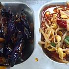 川菜窗口的 茄子和水煮肉