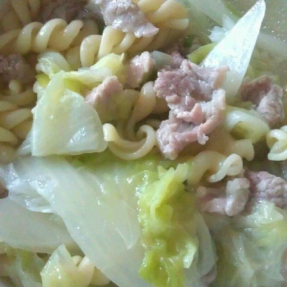 通心粉豬肉湯