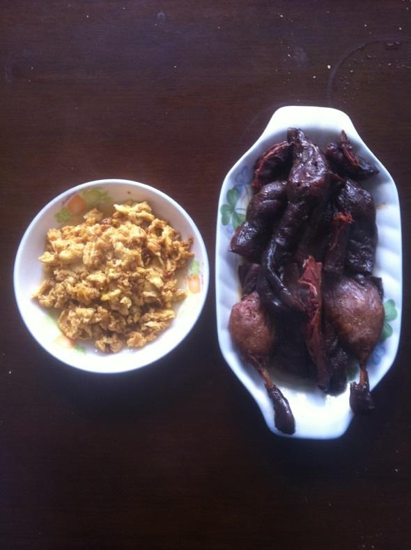 鸡蛋大酱和杭州酱板鸭