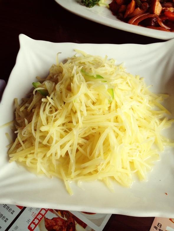 青椒土豆丝手绘图片