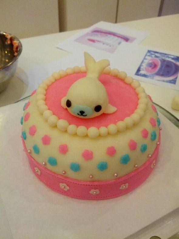 老公生日自己diy的蛋糕