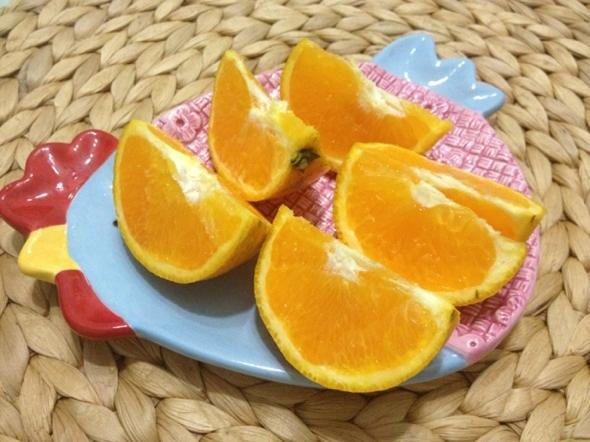 在橙子皮上畫畫的圖片