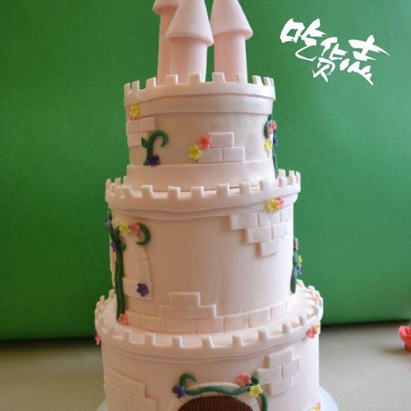 城堡翻糖蛋糕