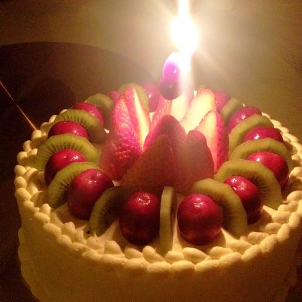 原粒樱桃草莓水果蛋糕