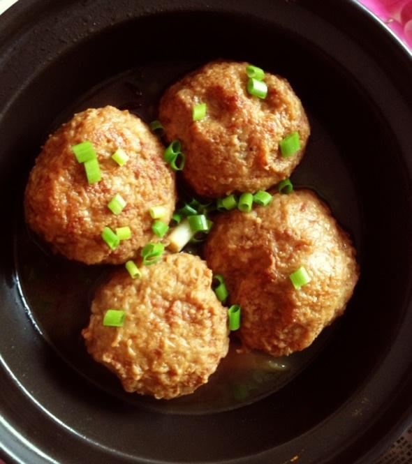 土豆狮子头,真好吃!