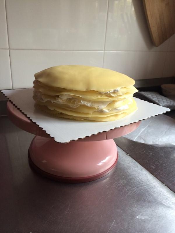 龚炯的千层榴莲蛋糕(手绘涂鸦)做法的学习成果照
