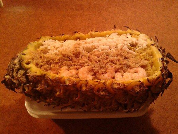 菠萝焗饭的做法
