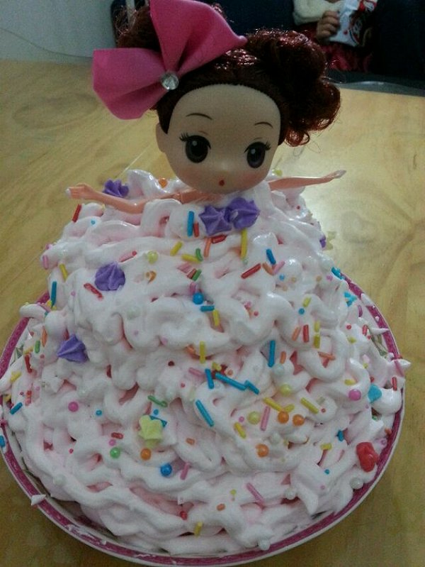 冰雪儿9851的娃娃蛋糕做法的学习成果照