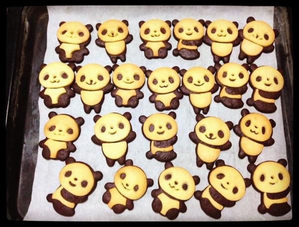 猫尐欠做的超萌熊猫饼干的做法