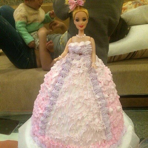 qzuser的芭比娃娃蛋糕做法的学习成果照