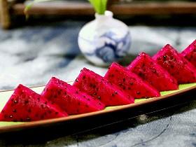 果盘:火龙果的4种切法(水果切法图解)的全部作品图片