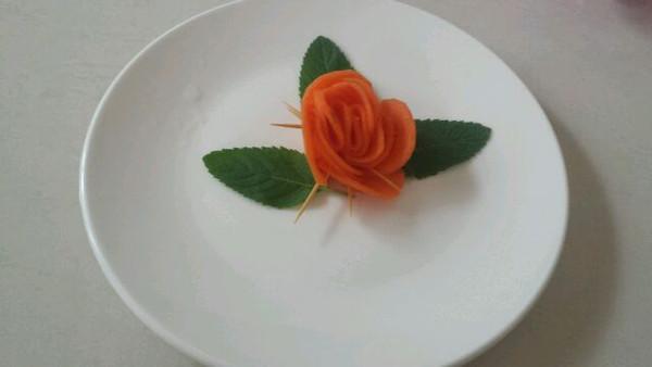 橙黎黎的胡萝卜玫瑰花做法的学习成果照