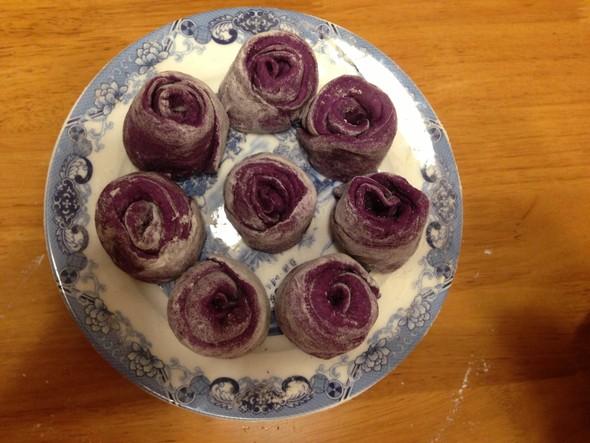 yunkinki做的紫薯玫瑰馒头的做法