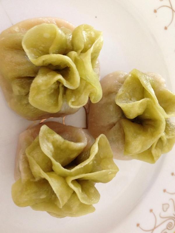 一勾大师的翡翠白菜蒸饺做法的学习成果照