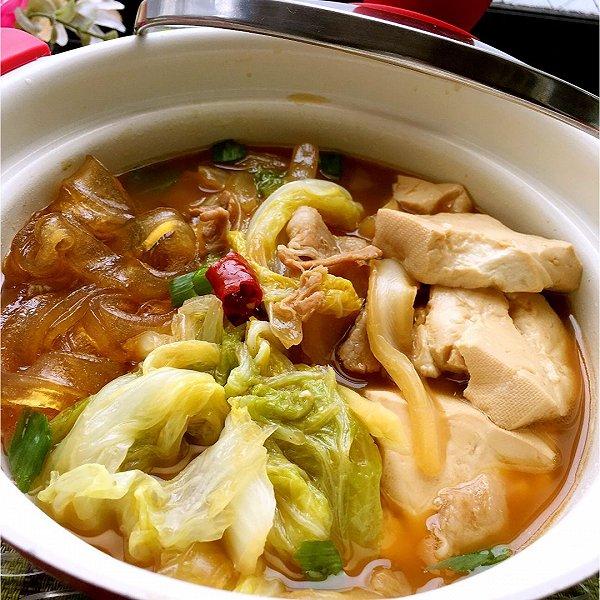 白菜豆腐炖粉条 :永远忘不了的家乡菜的做法