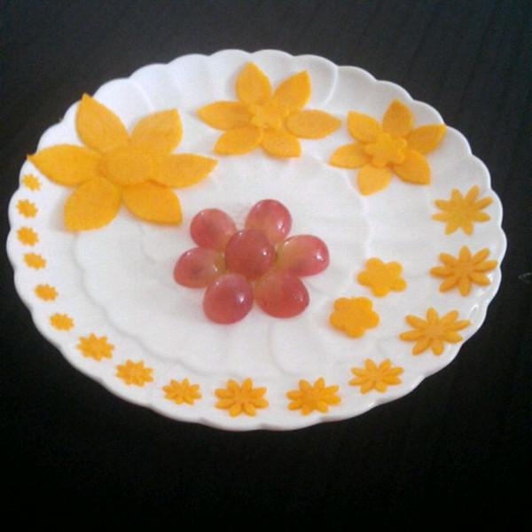 玉莹2323的水果拼盘花做法的学习成果照