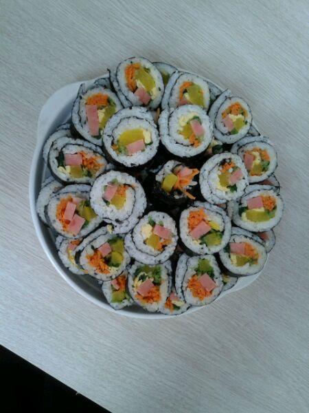 小ォ女天晴的紫菜寿司卷做法的学习成果照