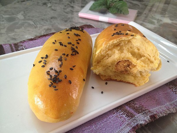 肉松面包-面包机版的做法