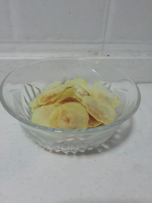 微波炉自制薯片的做法
