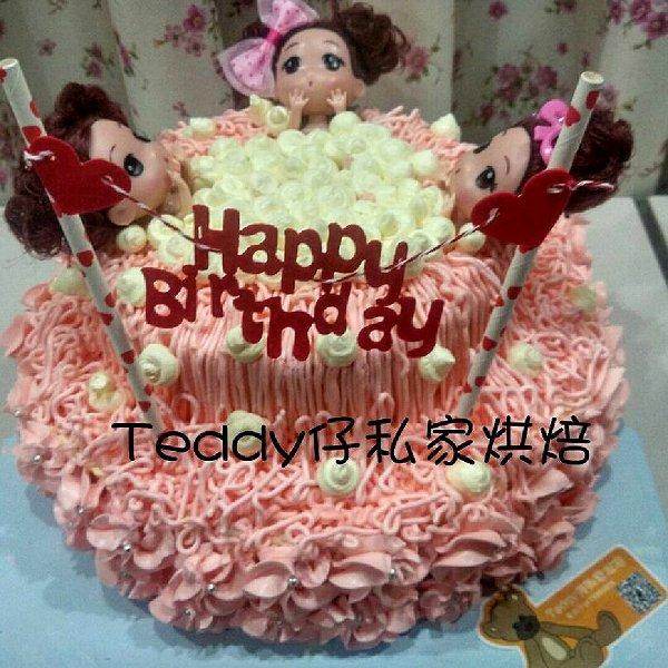 PricessTeddy的给女生的芭比女孩做法的v女生成怎么长到蛋糕173图片