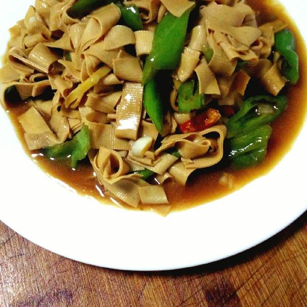 尖椒干豆腐--简单东北下饭菜