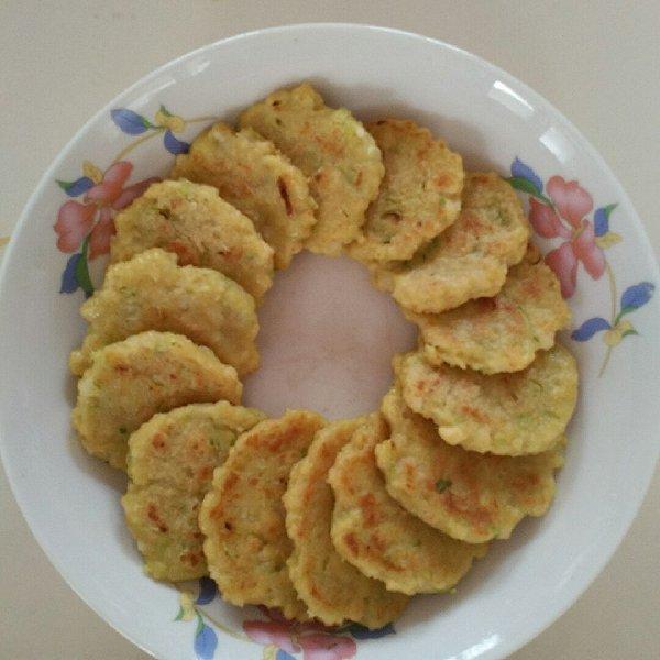 丁子涵妈妈的虾仁豆腐饼做法的学习成果照_豆