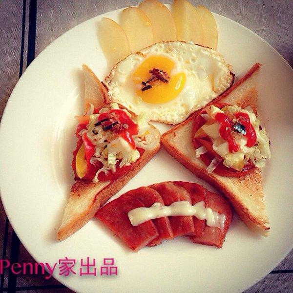 海绵宝贝做的西式早餐的做法