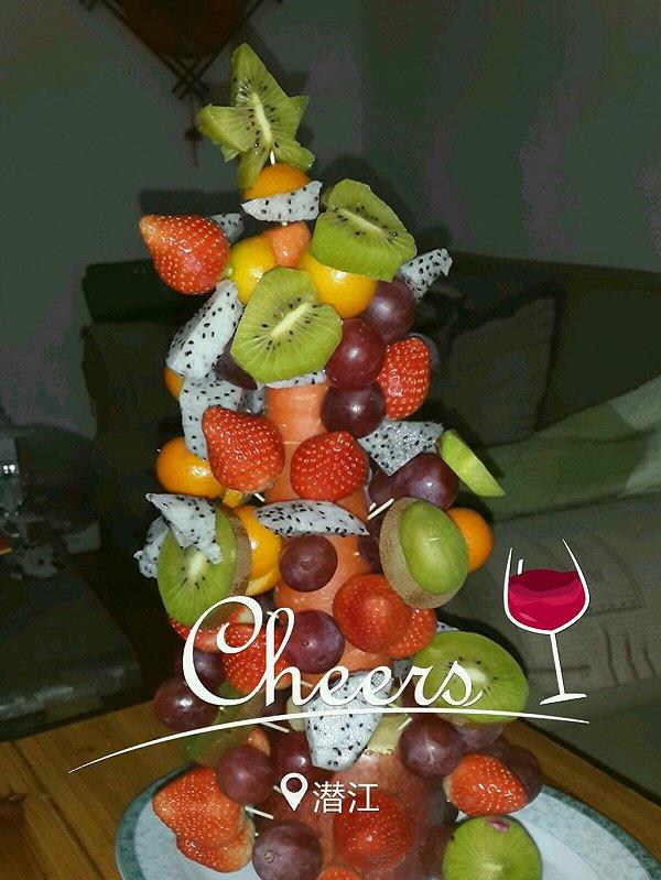 琉璃苣21做的水果圣诞树的做法