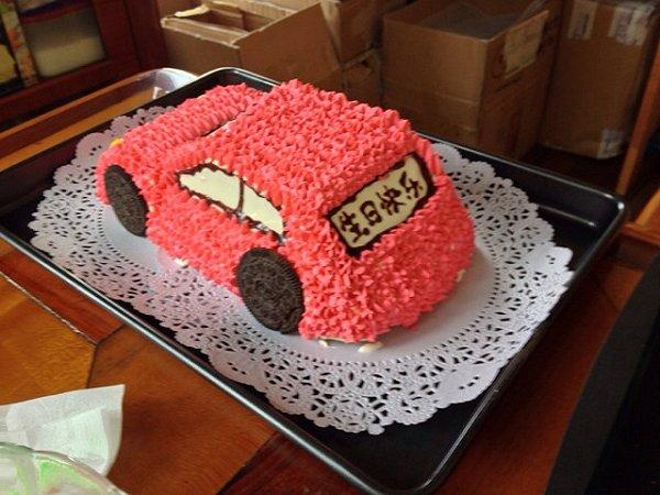 四喜巴朗的可爱的小汽车生日蛋糕儿做法的学习成果照